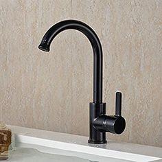 Auralum® Zeitgenössig Granit Schwarz Spültisch Mischbatterie  Waschtischarmatur Mit Hohem Auslauf Für Spüle Küchen Bad Waschbecken