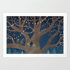 Put the lights on the tree Art Print by Chuck Groenink - $16.50