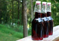 blueberry-basil vinegar