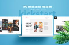 108 Handsome Headers by MisterCreativ™ on @creativemarket