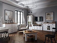 Comfort Line Bútoráruházak | Nappali szekrénysorok, elemes bútorok Living Spaces, Living Room, Provence, Decorative Items, New Homes, Kitchen Cabinets, Cottage, Interior Design, Table
