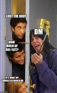 Tagged with gaming, memes, dnd, tabletop games, dungeons and dragons; Shared by Dnd meme dump Dnd Funny, Hilarious, Rpg Wallpaper, Dnd Bard, Tabletop, Dungeons And Dragons Memes, Dragon Memes, Gaming, Pen And Paper