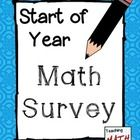 How do your students feel about Math?    The survey within this resource is meant to be used as an easy way for you to get to know your students as m...