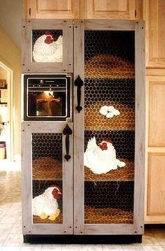 nesting box fridge art
