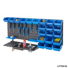 Wall Mounted Tool Rack & Parts Bins - Louvre Panel And Panel Kit from BiGDUG UK