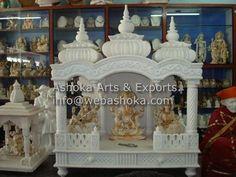 home mandir. Mandir Design, Pooja Room Design, Mandir Decoration, Temple Room, Cute Family Photos, Pooja Mandir, Stainless Steel Furniture, Puja Room, Wood Cladding