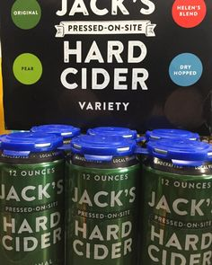 Perfect for the family get together this Easter Sunday. New Jack's Hard Cider in variety 12 packs and six packs stop by today Swan Song Spirits. Cheers!