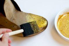 Des paillettes pour chaussures