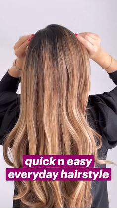 Wand Hairstyles, Easy Hairstyles For Long Hair, Pretty Hairstyles, Medium Hair Styles, Curly Hair Styles, Hair Upstyles, Quick Hair, Up Girl, Great Hair