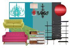 """נעליים"" by saharsodit on Polyvore featuring interior, interiors, interior design, home, home decor, interior decorating, Brika, Cyan Design and West Elm"