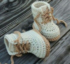 CROCHET PATTERN for Baby Boys Combat Boot Crochet Pattern Beige Crochet Baby Army Boots street shoes English Language Only - Baby Boy Shoes - Ideas of Baby Boy Shoes - Crochet Shoes Pattern for Baby Boys Combat Boot by Inventorium Crochet Baby Boots, Booties Crochet, Crochet For Boys, Crochet Slippers, Free Crochet, Crochet Cow, Easy Crochet, Baby Boy Booties, Baby Boy Shoes