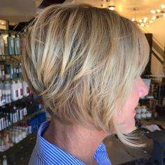 Ash Blonde Layered Bob Over 50