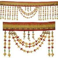 Gleam of Golden Beads Toran : Door Hangings / Bandhanwar