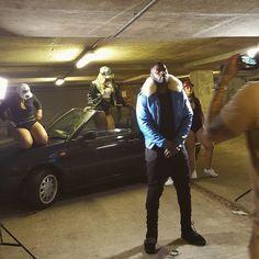 #bts #videoshoot @lethalbizzle #wobble #remix @flylander @representclo #streetwear #streetstyle #stylingmen #stylishmen #uk #london #fashionstylist #fur #royalblueleather #bomberjacket #badass
