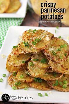 Garlic Parmesan Potatoes Crispy Garlic Parmesan Potatoes Recipe on Yummly. Garlic Parmesan Potatoes Recipe on Yummly. Side Dish Recipes, Vegetable Recipes, Vegetarian Recipes, Cooking Recipes, Healthy Recipes, Delicious Recipes, Potato Dishes, Food Dishes, Crispy Parmesan Potatoes