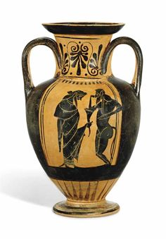 AN ATTIC BLACK-FIGURED AMPHORA - CIRCA 550 B.C.