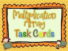 Multiplication Array Task Cards Common Core Aligned. A set of 32 Multiplication Array Task Cards aligned to Common Core Standards. Varying tasks are included! $