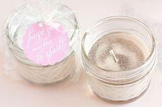 DIY Glitter Soy Candles