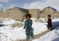 Afghanistan  -- no shoes, cold snow