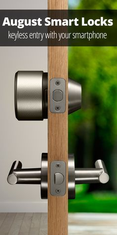 August Smart Lock Pro, generation - Works with Alexa - Shop JGM Smart Home Front Door Locks, Smart Door Locks, Wall E, August Smart Lock, Smart Home Technology, Technology Gadgets, Bluetooth Remote, Smart Home Automation, Up House