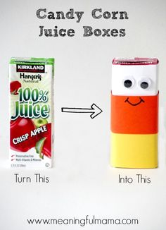halloween juice boxes candy corn harvest party