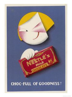 Vintage chocolate poster for Nestle