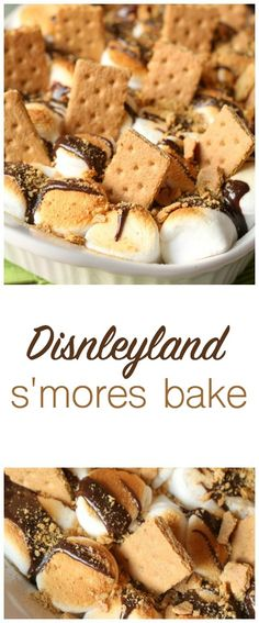 Disneyland S'mores Bake. A brownie base covered in toasted marshmallows, hot fudge and graham cracker crumbles!