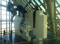 Original stage set for Pink Floyd's The Wall tour at Rock and Roll Hall of Fame, Cleveland, Ohio