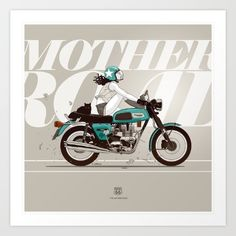 The Mother Road Art Print by Antonio Ortega. Worldwide shipping available at Society6.com. Just one of millions of high quality products available.