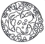 this site has a bunch of free printable designs. mandalas, art nouveau, islamic, all sorts of images to use as coloring pages or patterns.