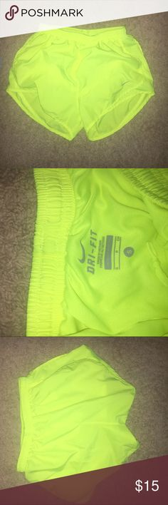 Neon Nike Shorts Neon Yellow (only worn once) Nike Shorts