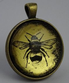 New range of pendants. Original art you can wear! http://claire-russell.co.uk/pendant-shop.html 'Bumblebee' 22.5ct gold leaf.