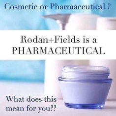 The FDA divides skin care into 2 categories: ▶Pharmaceuticals (dermatological based) penetrate through layers of skin & impact the structure & function of the skin. ▶Cosmetics OTC (over the counter) sit on the surface of the skin. Rodan+Fields is THE 1ST PHARMACEUTICAL GRADE skincare available OTC & approved by the FDA! Are you ready to invest in the best skin care of your life?! Quit wasting money on products that don't work. Message me today to see what real skin care looks like!