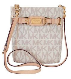 Michael Kors Hamilton Large PVC Crossbody in Vanilla (White), Women's Mk Handbags, Handbags Michael Kors, Michael Kors Bag, Cheap Handbags, Designer Handbags, Replica Handbags, Designer Purses, Burberry Handbags, Michael Kors Hamilton
