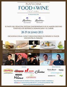 PUNTA CANA FOOD & WINE FESTIVAL 28 Y 29 DE JUNIO 2013