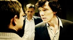 Sherlock's face when he realizes he's hurt John. (gif) Too many feels!! And important to remember that he's only known John for about a day