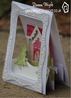 Hello this is my second card for this months challenge which was to 'celebrate' with any accordion frame edges. I had some very happy post l...