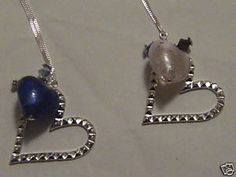 Birthstone Memorial Hearts  Sold by Forget Me Not Baubles   on ebay