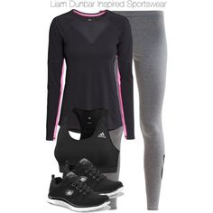 Liam Dunbar Inspired Sportswear by staystronng on Polyvore featuring polyvore, fashion, style, H&M, NIKE, adidas, Skechers, tw, gym and LiamDunbar