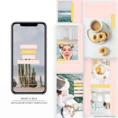 Bright & Bold Instagram Stories Pack – @keagankingsley Instagram Story Template, True Colors, The Help, The Creator, Photoshop, Social Media, Bright, Templates, Stencils
