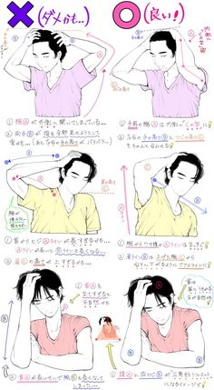 Anatomy, arms, torso, pose, hand on head Drawing Reference Poses, Drawing Skills, Drawing Tips, Drawing Sketches, Art Drawings, Hair Reference, Comic Drawing, Pencil Drawings, Manga Drawing Tutorials