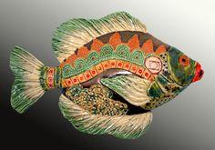 Fish - Crain Art Studio-Raku!  crainartstudio.com
