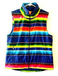 NWT Ralph Lauren RLX Golf Vest Water Repellent Multi-colored Striped Sz M #RLXRalphLauren