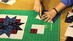 Quilting Quickly: Four-Patch Star Quilt - Star Patterns