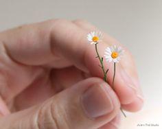 Single Dollhouse Daisy. 1:12 scale miniature daisy. by AcornTrail