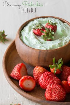 Creamy Pistachio Fruit Dip!  Easy and so very good!  Only three simple ingredients!