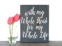 Wooden Wall Decor  Wood Sign  Home Decor Sign  by ThePaintedHedge
