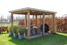 The wooden pergola is a good solution to add beauty to your garden. If you are not ready to spend thousands of dollars for building a cozy pergola then you may devise new strategies of trying out something different so that you can re Pergola Diy, Corner Pergola, Pergola Canopy, Pergola Swing, Wooden Pergola, Pergola Shade, Pergola Plans, Pergola Ideas, Cheap Pergola