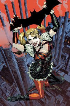 Batman: Arkham Knight Cover #2 feat. Harley Quinn - Dan Panosian