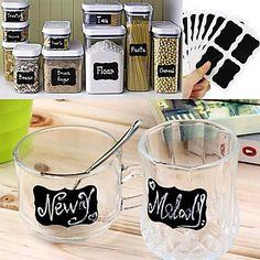 Chalk Pen Chalkboard Sticker Labels Vinyl Kitchen Jar Wall Cup Bottle Planner Mirror Decor Decals Tags ,Set of 36 2016 - $4.99